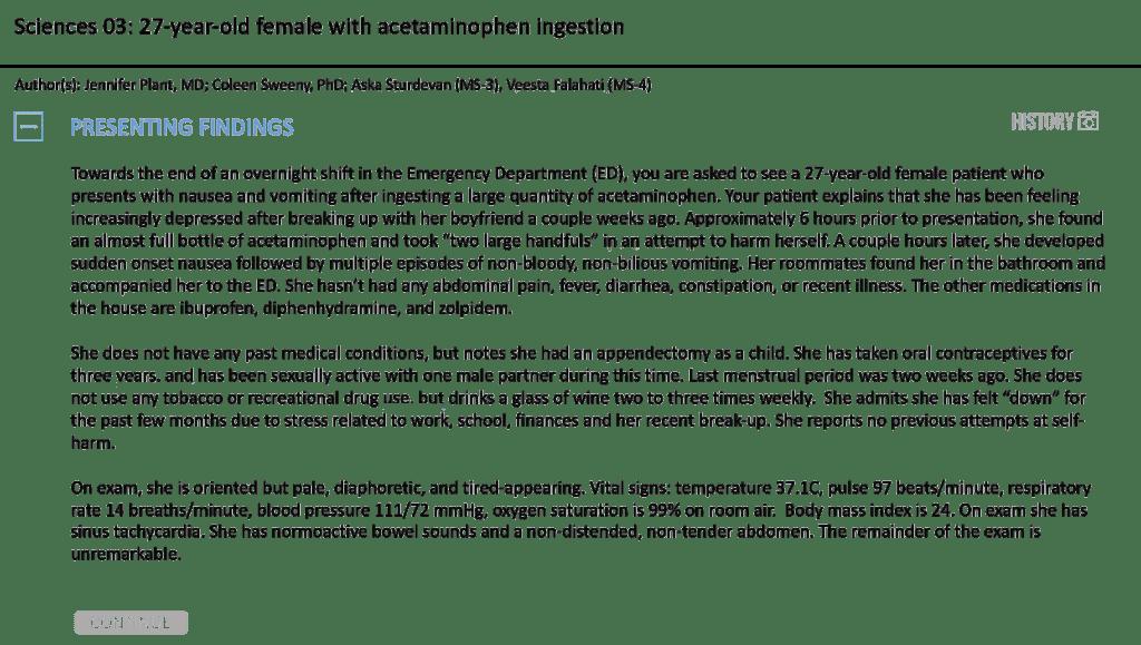 Sciences-cases-clinical-vignette